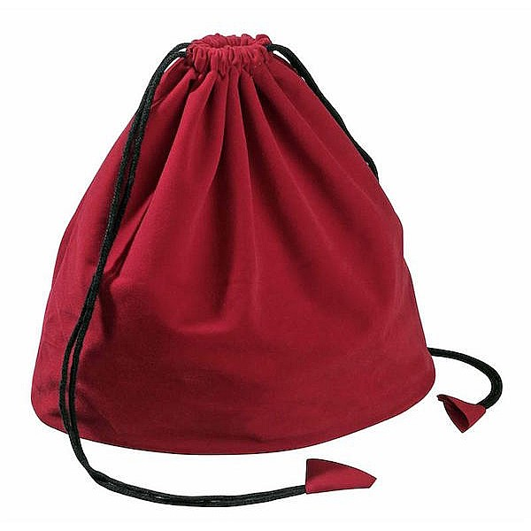 Draw string bags, red
