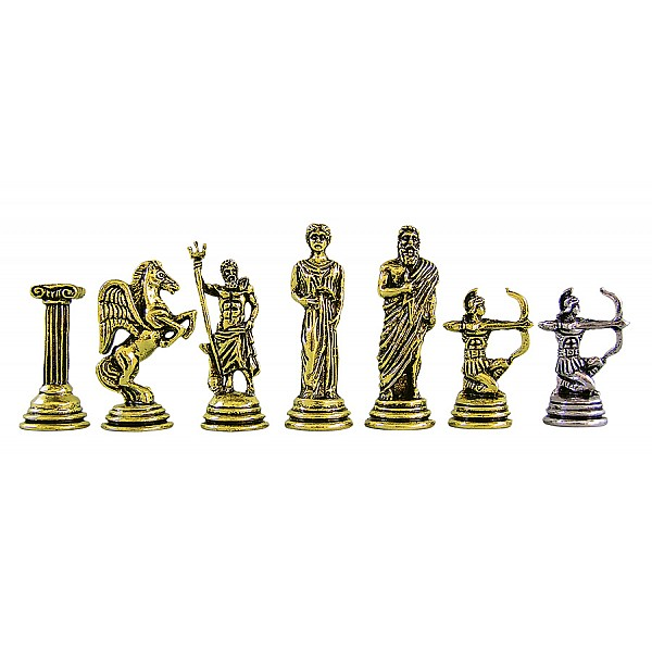 """Metal chess pieces - Archers theme - King's height 5.3 cm / 2.08"""" inches"""