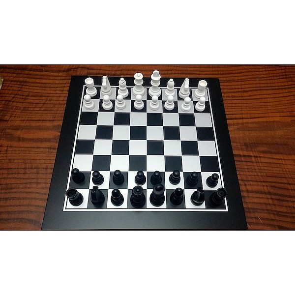 """Black stained chess set (size  33 X 33 cm / 13"""" X 13"""" inches)"""