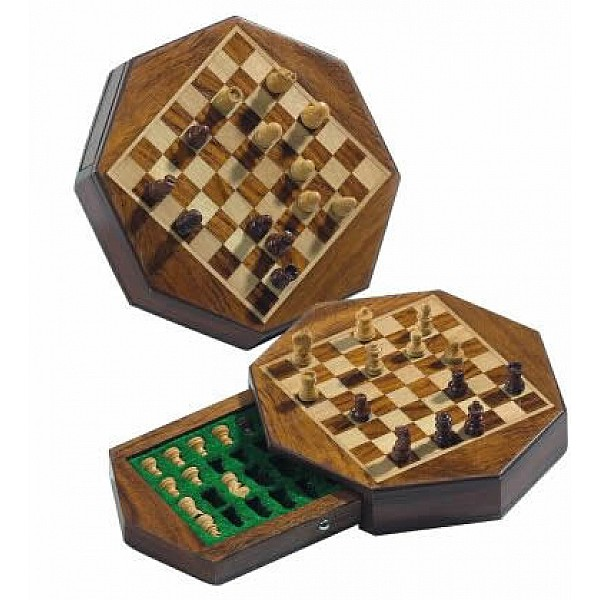 Travel Chess Set magnetic octagon