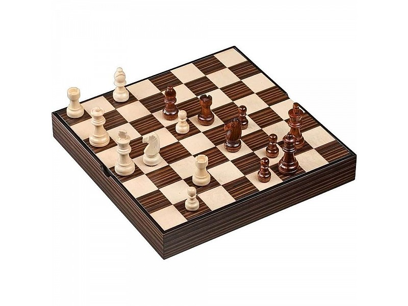 """Magnetic deluxe square wooden chess set (size 28 X 28 cm / 11"""" X 11"""" inches)"""