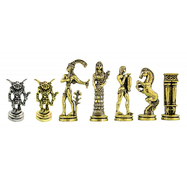"""Metal chess pieces -  Minotaur theme - King's height 7 cm / 2.75"""" inches"""