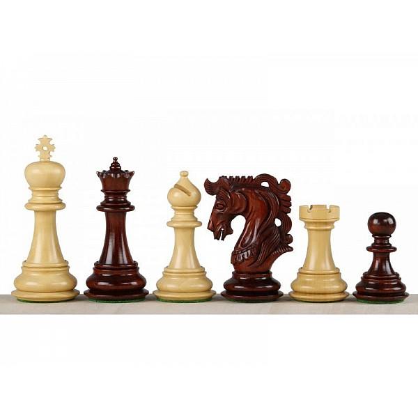 """Chess pieces Elvis redwood  -King's height 10.11cm / 4"""" inch"""