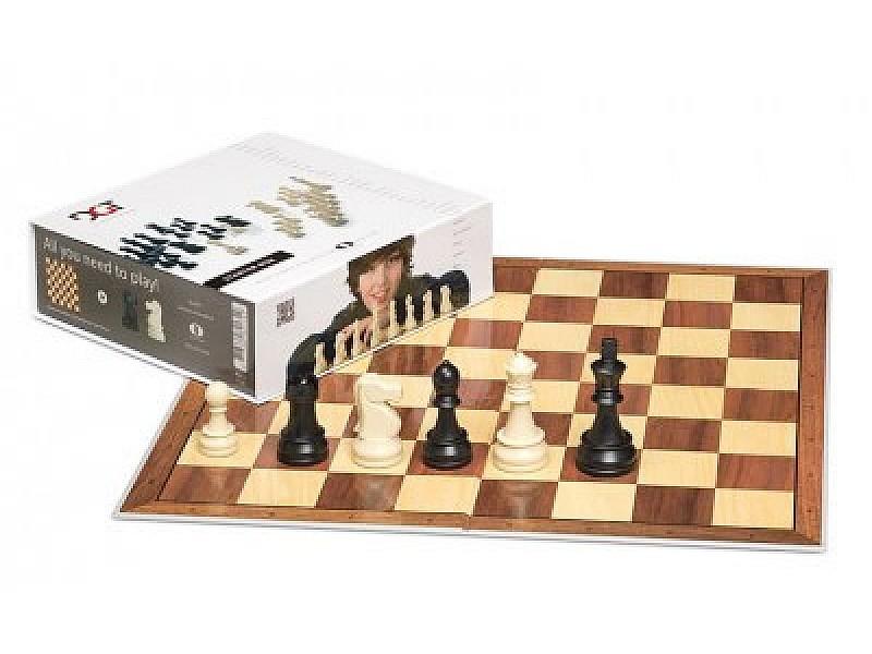 Chess set  DGT brown
