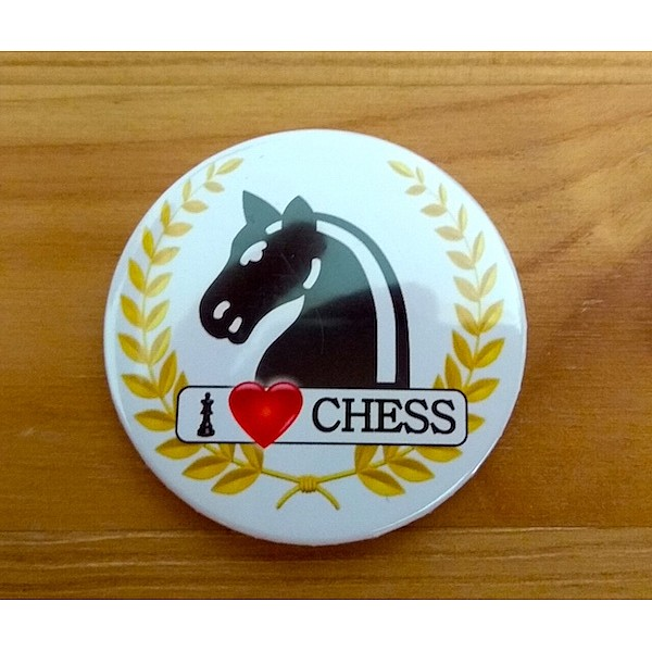 Chess magnet button - horse