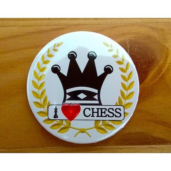 Chess magnet button - queen