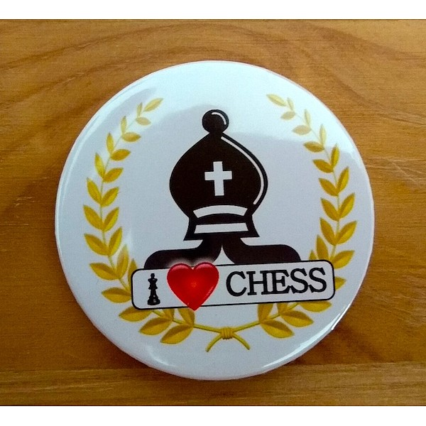Chess magnet button - bishop