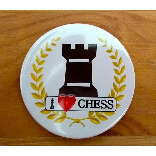 Chess magnet button - rook