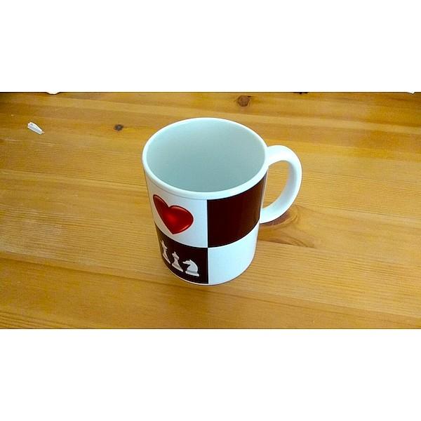 """Chess mug """"heart of chess"""""""