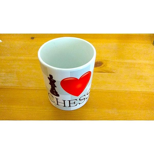 """Chess mug """"I love chess"""""""