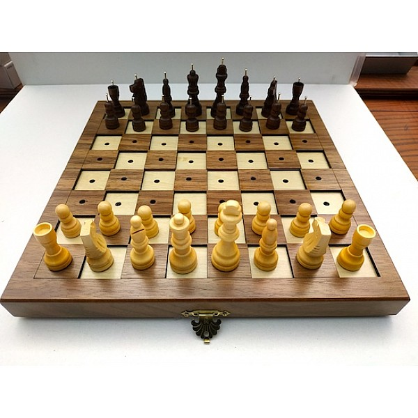 Chess set for blind or impaired people