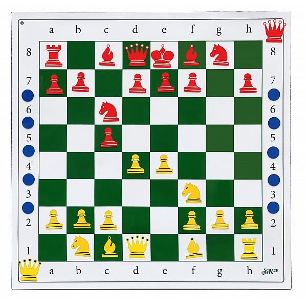 Autoadhesive demonstration chess board