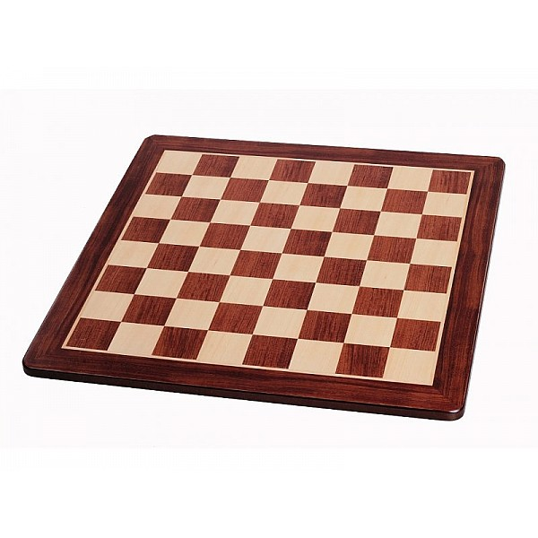 """Chess board redwood (size 48 X 48 cm / 18.89"""" X 18.89"""" inches)"""