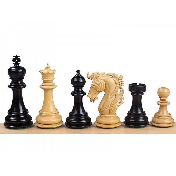 """Chess pieces Elvis ebony - King's height 10.11cm / 4"""" inch"""