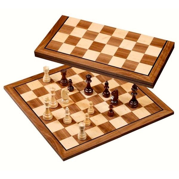 Wooden foldable chess board