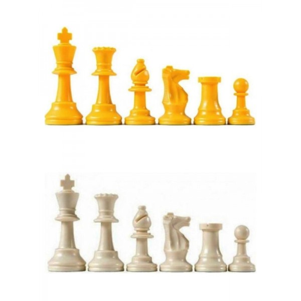 """Plastic chess pieces colored - King's size: 9.5 cm / 3.74"""" inches"""