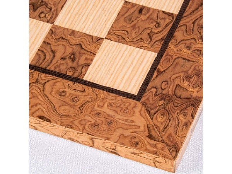 """Chess board burl without indices (size 50 X 50 cm / 19.68"""" X 19.68"""" inches)"""