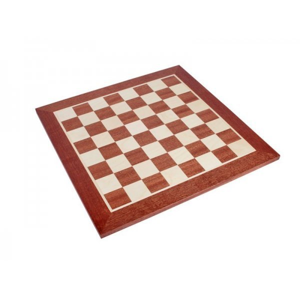 """Mahogany chess board  without indices (size 50 X 50 cm / 19.68"""" X 19.68"""" inches)"""