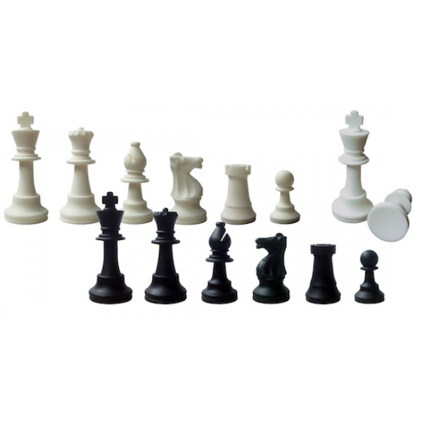 """Silicone chess pieces - king's height 9 cm / 3.54"""" inches"""