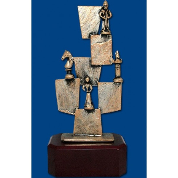 """Hand-crafted creation """"chess theme"""" - Height: 20 cm / 7.87"""" inches"""