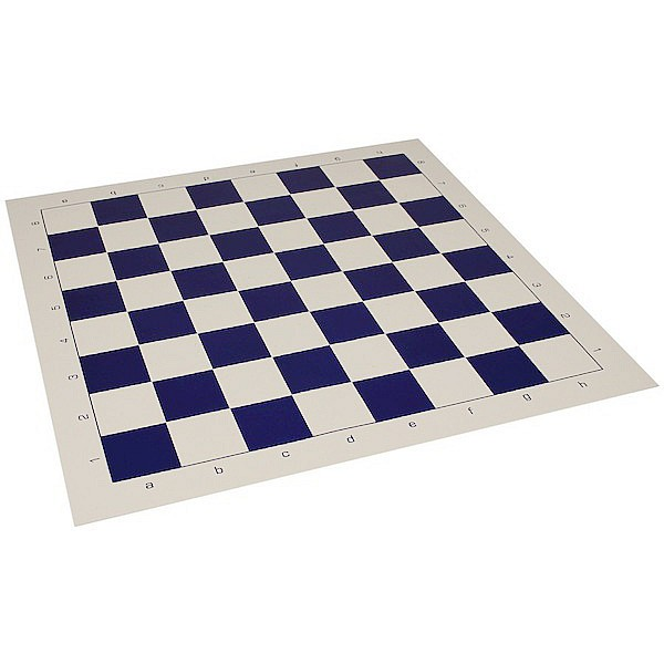Vinyl chess board blue